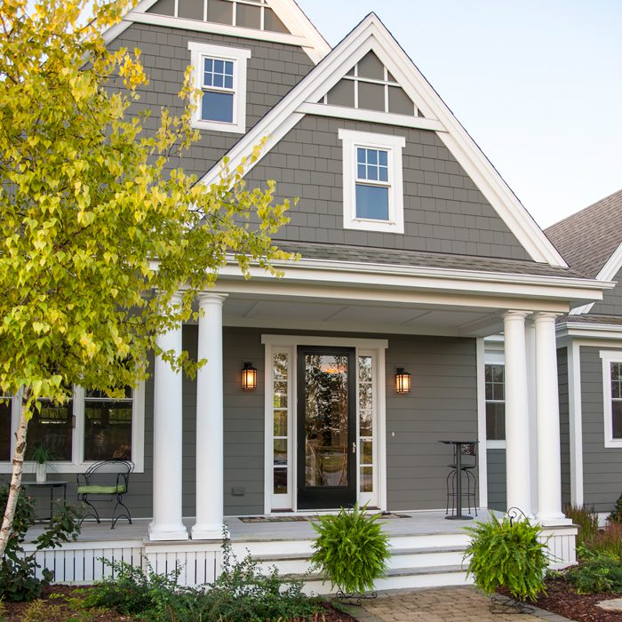 Home with hardieplank siding