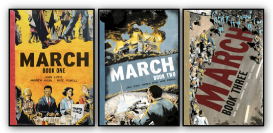 March Book Collection Graphic
