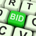 Bid button on a keyboard