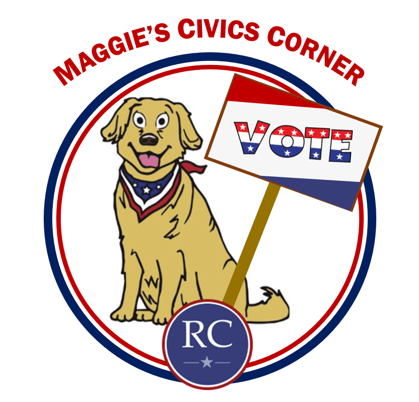 Maggie's Civics Corner Icon with Vote poster