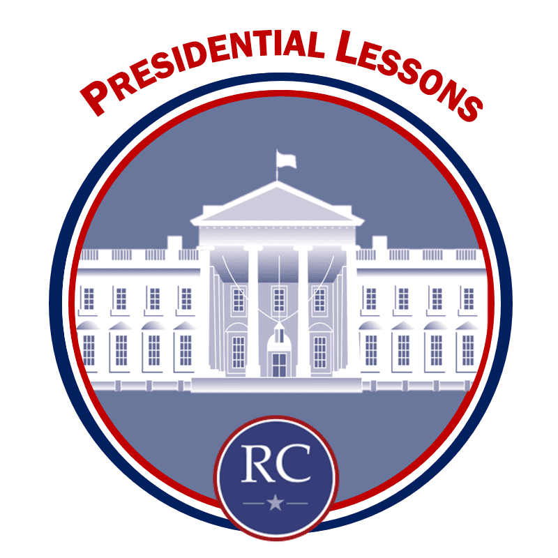 Presidential Lessons Icon - White House in circle